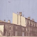 01-St.jean de Fos, gouache, 50x65cm
