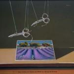 05-Deux avions de chasse survolant un champs de lavandes - huile 25x32,5cm