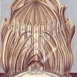 06-La visite des maisons-Visiting the Houses, plume, 50x65cm