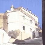 08-La Plat du JourToday's Suggestion, plume, 50x63cm