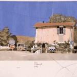 15-St.Jean de Fos, gouache, 50x65cm