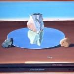 Le reflet de mirroir occitan - acrylique 50x65cm