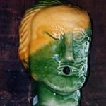Masque vert 25cm x 15cm